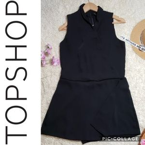 TOPSHOP NWOT Black Sleeveless Romper
